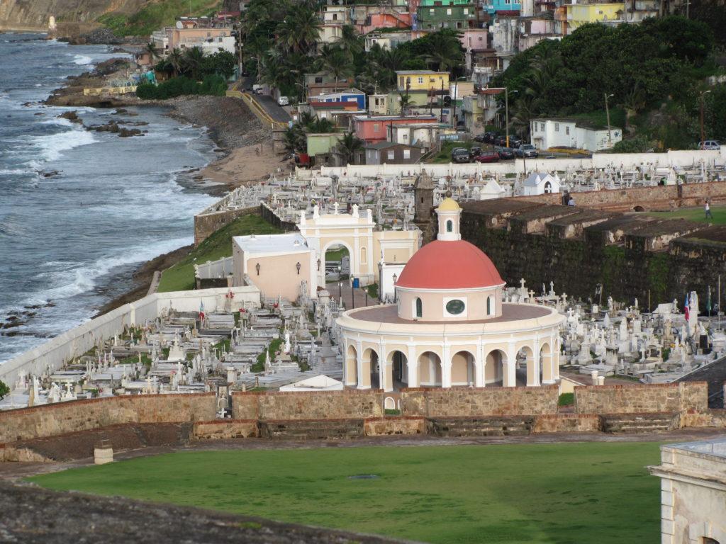 An historic cemetery in San Juan, Puerto Rico.