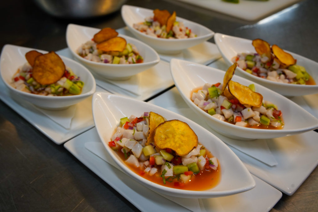 Ceviche in bowls