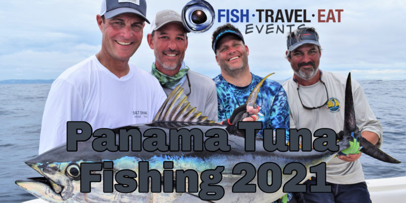 Guys holding big tuna in Panama