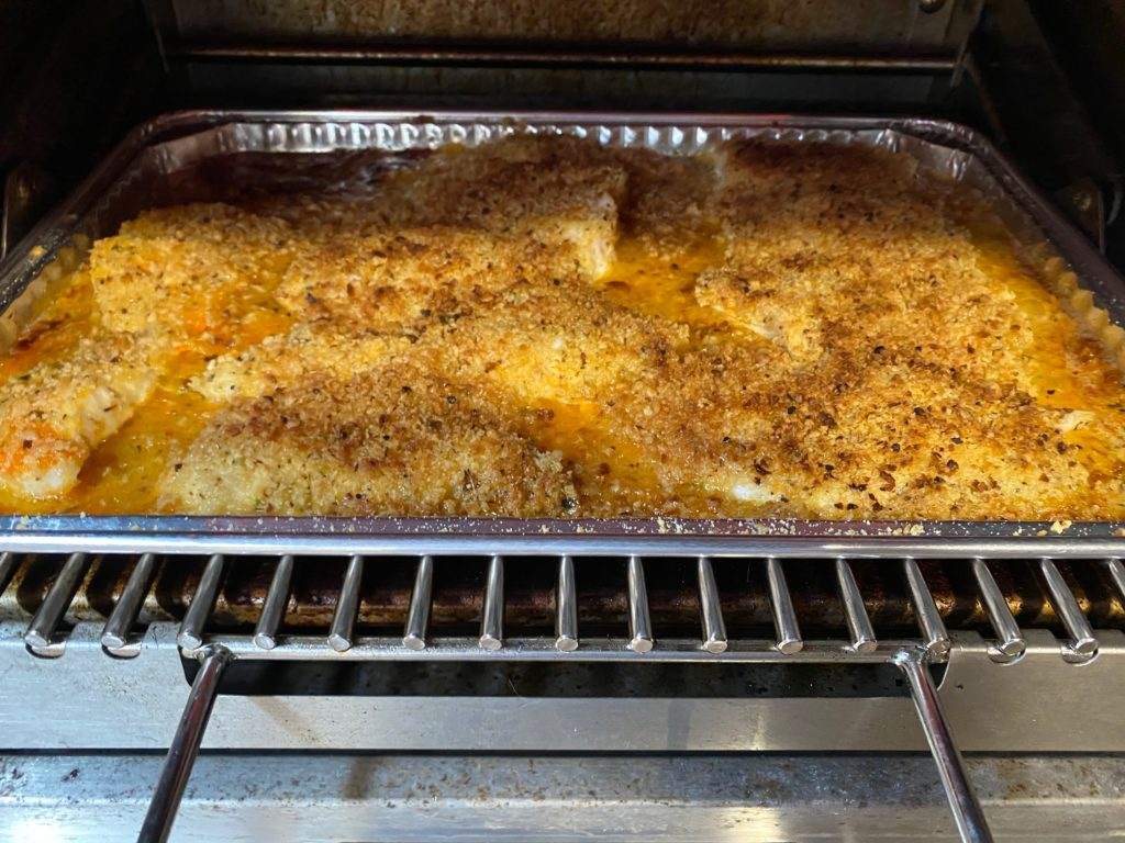Pan of broiled grouper