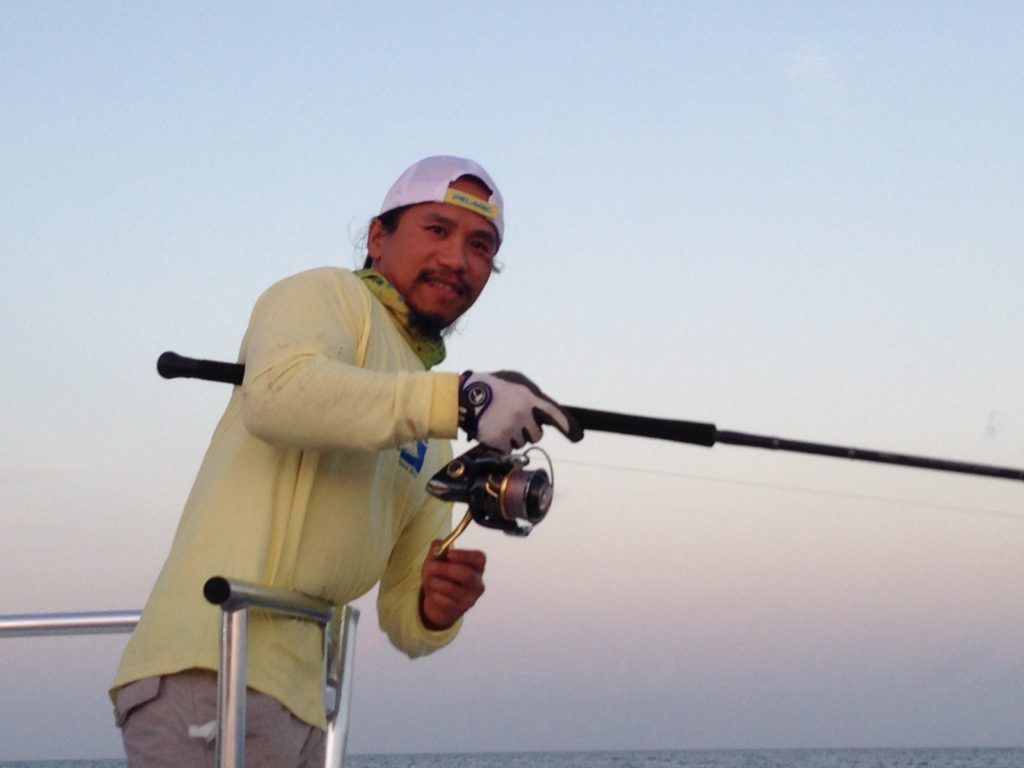 Focusing on the moment while fishing is a great way to relieve stress