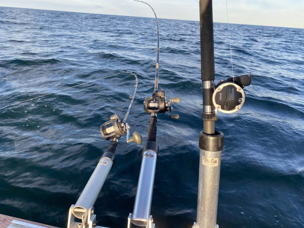 Watching three rods trolling in the lake gives your brain a chance to recharge