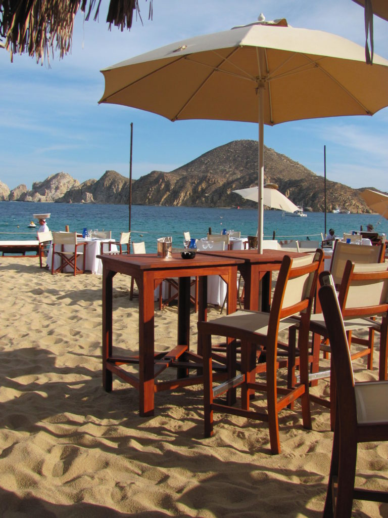Beach front bar and restaurant in Cabo San Lucas.