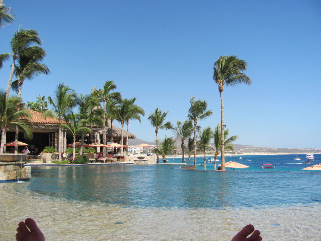 Infinity pool overlooking the beach in Cabo.