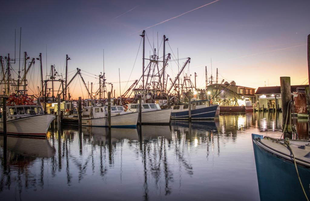Commercial fishing dock.