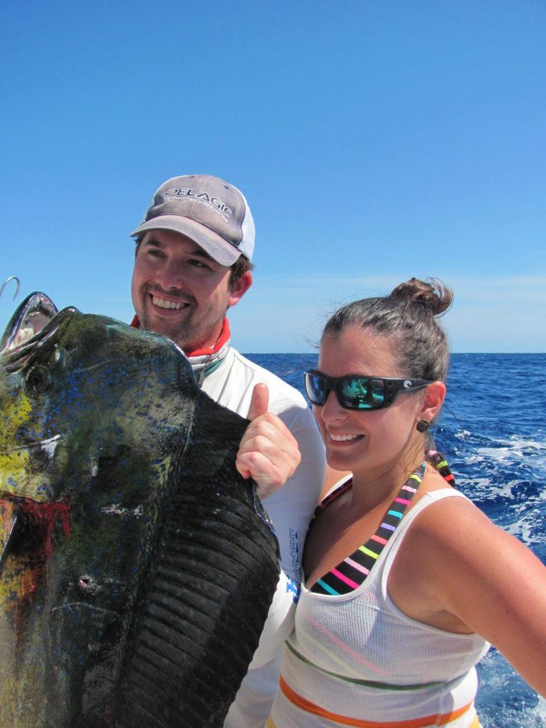 Couple with big dorado caught in Cabo San Lucas