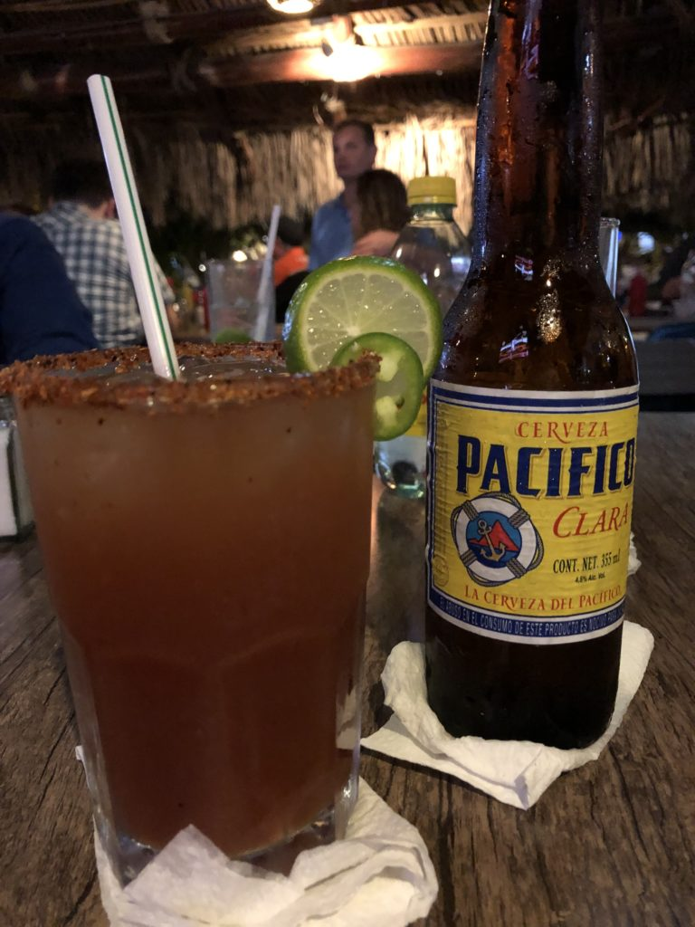 Michelada with Pacifico beer.