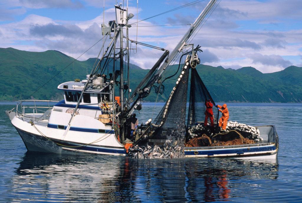 Salmon fishing boat in Alaska.