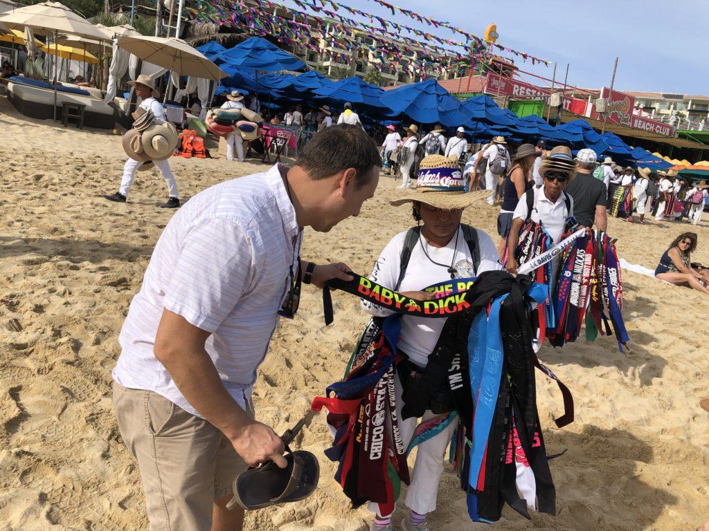 Beach vendor in Cabo.